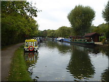 TQ1683 : Houseboats on the Paddington Branch of the Grand Union Canal at Perivale by Rod Allday