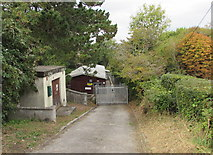 SW7834 : Side road descending to the Cornwall ACF Centre, Penryn by Jaggery