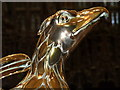 SK9771 : Close up of the brass eagle lectern by Mat Fascione