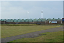 TQ2704 : Beach huts by N Chadwick