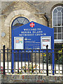 TM0113 : Mersea Island Methodist Church sign by Adrian Cable
