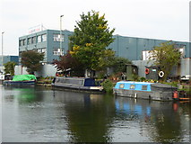 TQ2282 : Car sales business beside the Paddington Branch of the Grand Union Canal by Rod Allday