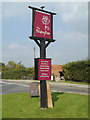TM0015 : The Peldon Rose Public House sign by Adrian Cable