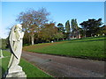 TQ4577 : Angel praying to the chapel - Woolwich Old Cemetery by Marathon