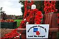 SJ9447 : Werrington Poppy Man in Staffordshire (British Legion Poppy Appeal) by Stu JP