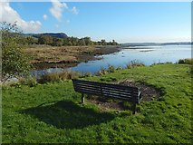 NS4074 : Bench beside Gruggies Burn by Lairich Rig