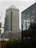 TQ3780 : One Canada Square from Westferry Station by Stephen McKay