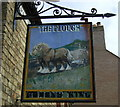 TL5183 : Sign for the Plough, Little Downham by JThomas