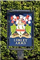 SK5491 : The Lumley Arms pub sign by Graham Hogg