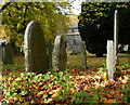 SK5907 : Gravestones at St Peter's Church, Belgrave by Mat Fascione