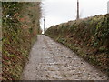 SX4271 : Track near St Ann's Triangulation Pillar by Peter Wood