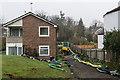 TQ4564 : Flooding, Borkwood Court by Ian Capper