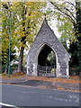 SU9677 : Eton Cemetery lychgate by Jaggery