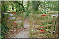 SX8257 : Gates on John Musgrave Heritage Trail by Derek Harper
