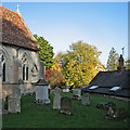 TL4355 : In Grantchester churchyard in October by John Sutton
