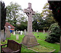 SU9577 : Large Celtic cross in Clewer Parish Churchyard, Clewer Village, Windsor by Jaggery