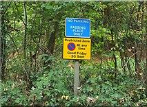 SX8963 : Parking notices, Cockington by Derek Harper