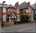 SU9577 : Victorian inscription on Mill Lane houses, Clewer Village, Windsor by Jaggery