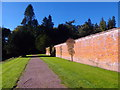 NO3848 : Path outside south wall of Glamis walled garden by Stanley Howe