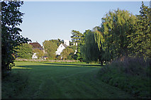 TL5646 : Linton mill and playing field by M H Evans