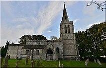 SP9599 : Wakerley: St. John the Baptist church north aspect by Michael Garlick