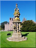 NO3847 : The Great Sundial, Front Lawn of Glamis Castle by Stanley Howe