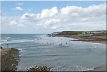 SS2006 : View North from Chapel Rock at Bude Haven, Cornwall by Derek Voller