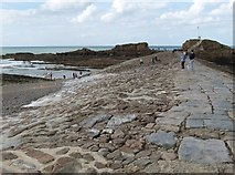 SS2006 : View along the breakwater at Bude Haven by Derek Voller