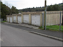 SW7834 : Six lockup garages, Saracen Way, Penryn by Jaggery