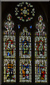 SK9153 : West window, St Helen's church, Brandt Broughton by Julian P Guffogg
