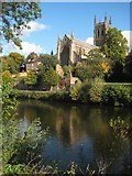 SO8454 : Worcester Cathedral by Philip Halling