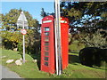 SY7290 : Lower Bockhampton: the telephone box by Chris Downer