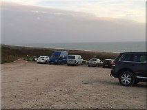 SY5088 : Car park for Cogden Beach by John H Darch
