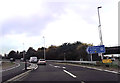 SU4416 : Slip road to M27 at junction 5 eastbound by John Firth