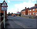 SJ5441 : Warning sign - skid risk ahead, Rosemary Lane, Whitchurch, Shropshire by Jaggery