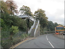 SH4862 : Footbridge  from  St  Helen's  Road  over  railway by Martin Dawes