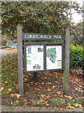 TM1644 : Christchurch Park Information Board in Christchurch Park by Adrian Cable