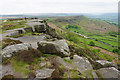 SK2575 : The southern end of Curbar Edge by Bill Boaden