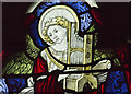 SK9153 : Stained glass window detail, St Helen's church, Brant Broughton by J.Hannan-Briggs