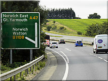 TG1608 : A47 Norwich Bypass near Little Melton by David Dixon