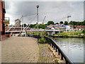 TG2308 : Riverside Path Approaching Lady Julian Bridge by David Dixon
