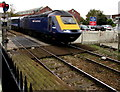 SW8144 : Penzance train on Truro Level Crossing by Jaggery