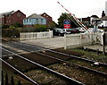 SW8144 : Barrier rising at Truro Level Crossing by Jaggery