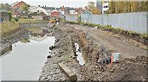 J3674 : Connswater path works, Belfast - November 2015(3) by Albert Bridge