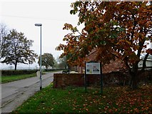 SK8770 : Harby village and information board on Queen Eleanor who died here en route to Lincoln by Steve  Fareham