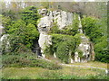 SK5374 : Pin Hole, Creswell Crags by Humphrey Bolton
