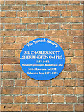 TM1645 : Plaque on the Chapel by Adrian Cable