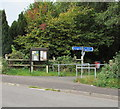 SO8402 : Woodchester Parish Council noticeboard and direction signs, North Woodchester by Jaggery