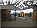 SH3735 : View from the concourse, Pwllheli station by Richard Vince