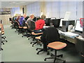 TQ3282 : Hard at Work at the Society of Genealogists by Chris Reynolds